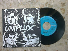 "UNIPLUX - CHI SIAMO NOI ? / U.X. - 7"" 1982 VERY RARE original ITALIAN punk kbd"