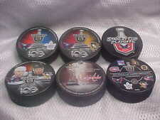 2017 NHL Stanley Cup Playoffs Washington Capitals Hockey (6) Puck Souvenir Pack