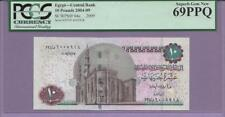 "Egypt,Central Bank Pick 64c PCGS PPQ 69 FINEST KNOWN 2/0 ""SCROLL DOWN FOR SCANS"""