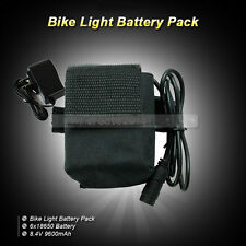 8.4V 9600mAh Rechargeable 18650 Battery For Bicycle HeadLight HeadLamp+ Charger