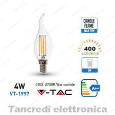 Lampadina led V-TAC 4W = 40W E14 bianco caldo 2700K VT-1997 a fiamma filamento