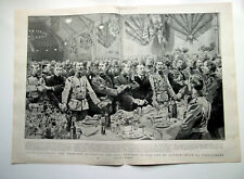 Honourable Artillery Co Dinner City Of London Volunteers 1900 Double Page Print