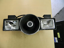 Vintage Style Police Siren Speaker w/ Federal Signal Strobe Lights Crown Vic