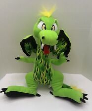 "FLYING GREEN SCORCH DRAGON 19"" Plush Stuffed Animal By The Toy Factory   (P7)"