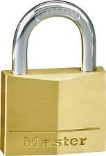 "New Master Lock 130D Solid Brass Keyed Padlock 3/16"" X 5/8"" 6177729"