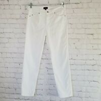 NYDJ Womens Cropped Ankle Jeans Size 4p Petite White Lift Tuck Stretch 28x26