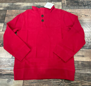 Gymboree Boys Holiday Christmas Red Button Sweater NWt Size 6