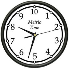METRIC TIME Wall Clock metric system timing watch time interval  gag gift