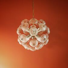 1960 LARGE SPUTNIK DANDELION HANGING CEILING PENDANT LIGHT CRYSTAL CHANDELIER