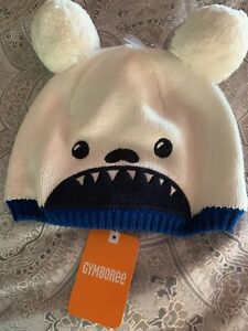 Gymboree nwt  Knit Beanie Bulldog Hat winter Fleece Lined  size 4t 5t Unisex