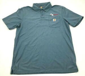 Carhartt  A&B Propane Shirt Size Large Tall LT Blue Men's Short Sleeve Collared