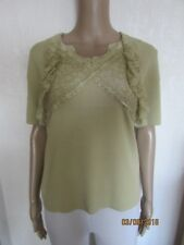NWT GREEN LACE DEATIL TOP SIZE M/L 12/14