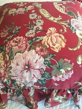 """RALPH LAUREN Ruffled Throw Pillow Cover Only 18x18"""" Marseilles NIOP 2 Available"""
