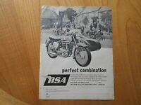 Vintage BSA Motorcycles Advert -- Original -- from 1961