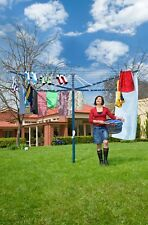 Hills Rotary 7 Washing Line Ocean Breeze Blue (47m Clothes Line)