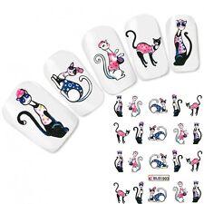 Nagel Sticker Katze Cat Nail Art Nägel Fuß Aufkleber Water Decal
