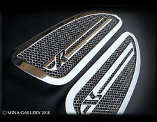 Jaguar XKR Supercharged Mesh Hood Louver Replacement set chrome or black FS