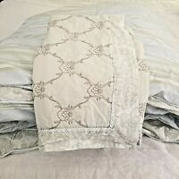 Vintage Chic Shabby Chic Cottage Paisley Reversible 2 Piece Twin Comforter Set