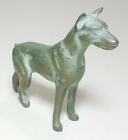 Vintage Antique Bronze Pharaoh Hound Dog Sculpture Statue