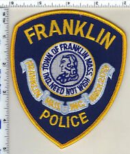 Franklin Police (Massachusetts) Shoulder Patch - from 1987