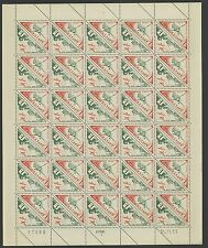 MONACO, 3 DIFFERENT SE-TENANT SHEETS TRIANGLES TRANSPORTS FROM 1953-54