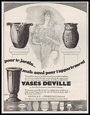 Publicité Vases DEVILLE Design Art Deco Original  ad 1927 -2i
