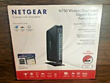 Netgear N750 Wireless Dual Band Gigabit Wifi Router Home Network Boxed Complete