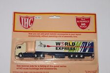 Ho Scale Ihc 921 World Express Tractor & Trailer Original Card Stack