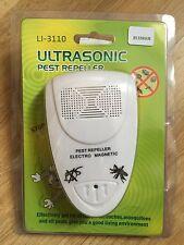Repelente de Plagas ultrasónico, UK/EU Enchufe Mosquito Rata Cucaracha expulsar casa todos de plagas