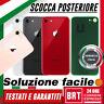 VETRO+BIADESIVO BACK COVER SCOCCA POSTERIORE PER APPLE IPHONE 8 COPRI BATTERIA!!
