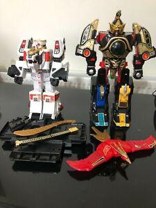 Power Ranger Thunder Assault Megazord & White Tiger zord bundle vintage toys