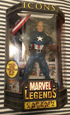 "MARVEL LEGENDS CAPTAIN AMERICA UNMASKED 12"" ICONS SEALED NEW  TOY BIZ"