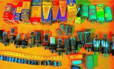 Vintage Radio Restorer Parts BOX LOT NOS PHILCO Vacuum Tubes Silvertone Sprague