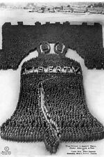 New 5x7 Photo: Human Liberty Bell of 25,000 Soldiers at Camp Dix, New Jersey