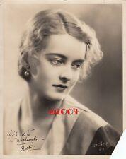 """BETTE DAVIS Vintage Original Autograph Photo '30 """"IRVING CHIDNOFF"""" RARE DBLEWT"""