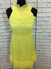 Urban Outfitters Traffic People Silk Yellow Top Size Large