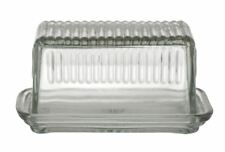 Academy Hemingway Glass Butter Dish With Lid Container Storage