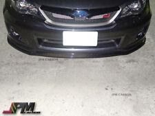 Carbon Fiber E-Style Front Bumper Lip Spoiler For 2011-2012 Subaru WRX STI GFV