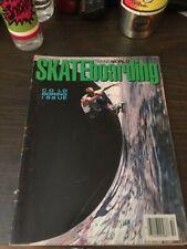 Transworld Skateboarding Magazine October 1987 Gator Kevin Staab 10/87 Oct