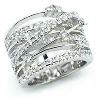 Infinity Women 925 Silver Rings White Sapphire Jewelry Wedding Rings Size 5-12