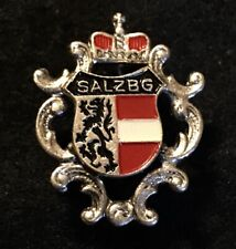 SALZBURG Vintage Skiing Ski Pin Badge AUSTRIA Tirol Souvenir Travel Ecusson