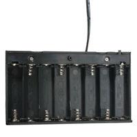 DIY Battery Holder 8x AA Storage Case DC 12V Switch Wire Lead 2.1mm x 5.5mm Plug