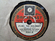 "JACK MORRISON - Ever So Goosey / Like The Big Pots Do 8"" 78 rpm disc"