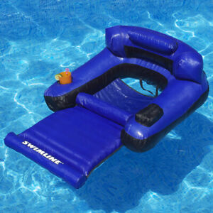 """Swimline 55""""L x 38""""W Swimming Pool Ultimate Floating Lounger Fabric Float"""