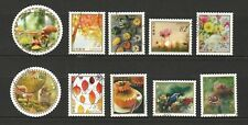 JAPAN 2018 AUTUMN GREETINGS FLOWERS & FRUITS 82 YEN COMP. SET OF 10 STAMPS USED
