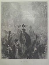 Gustave Dore London A Pilgrimage Ladies Mile Northern Bank Engraving 1872