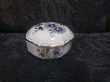 Zsolnay  Hand painted Porcelain Cornflower  Gold Trim Trinket Box