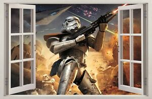 3D Effect Window STAR WARS STORMTROOPER WALL STICKERS decorative sticker 51