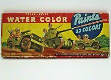 Vintage 1942 Color-Brite Water Color Paints by the American Crayon Co.