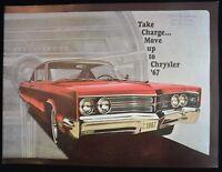 1967 CHRYSLER Color Sales Brochure 39 PAGES Chester Berg Motors Dealership